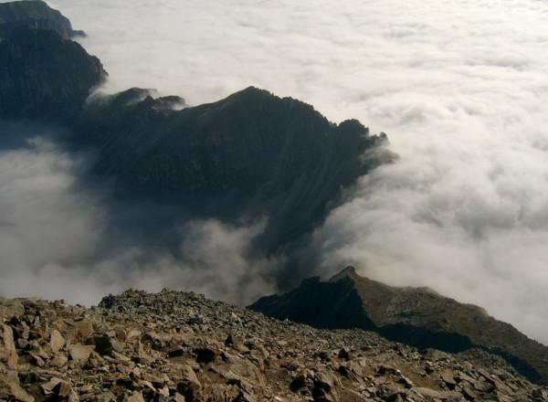 In rund 2800 m Höhe, auf teils stark ausgesetztem Steig.