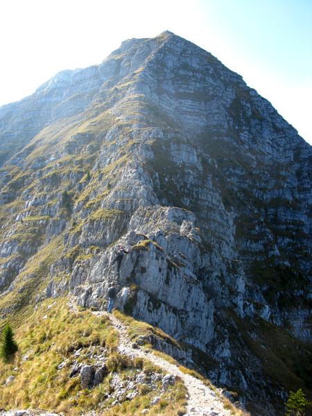 ungesicherte Felskletterei (maximal I+ nach UIAA)